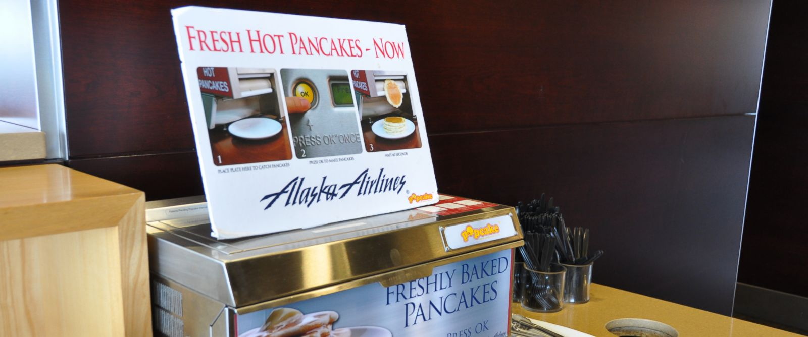 "PHOTO: Alaska Airlines ""pancake printer"" is wildly popular with its frequent fliers."