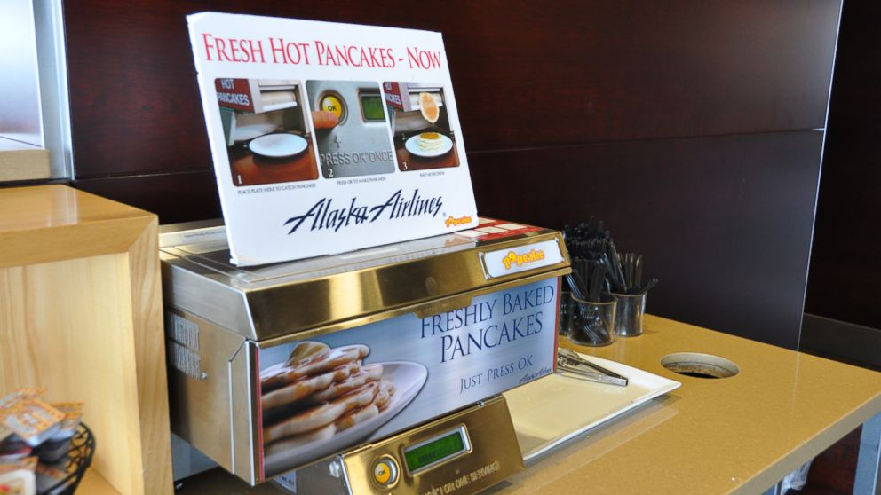 PHOTO: Alaska Airlines pancake printer is wildly popular with its frequent fliers.