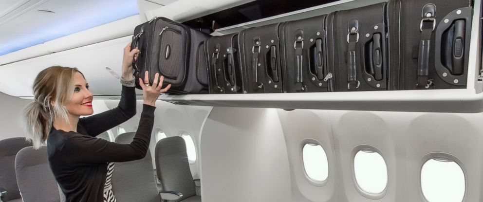 PHOTO: This handout photo from Boeing shows the design of its new Space Bins for its Boeing 737 aircraft.