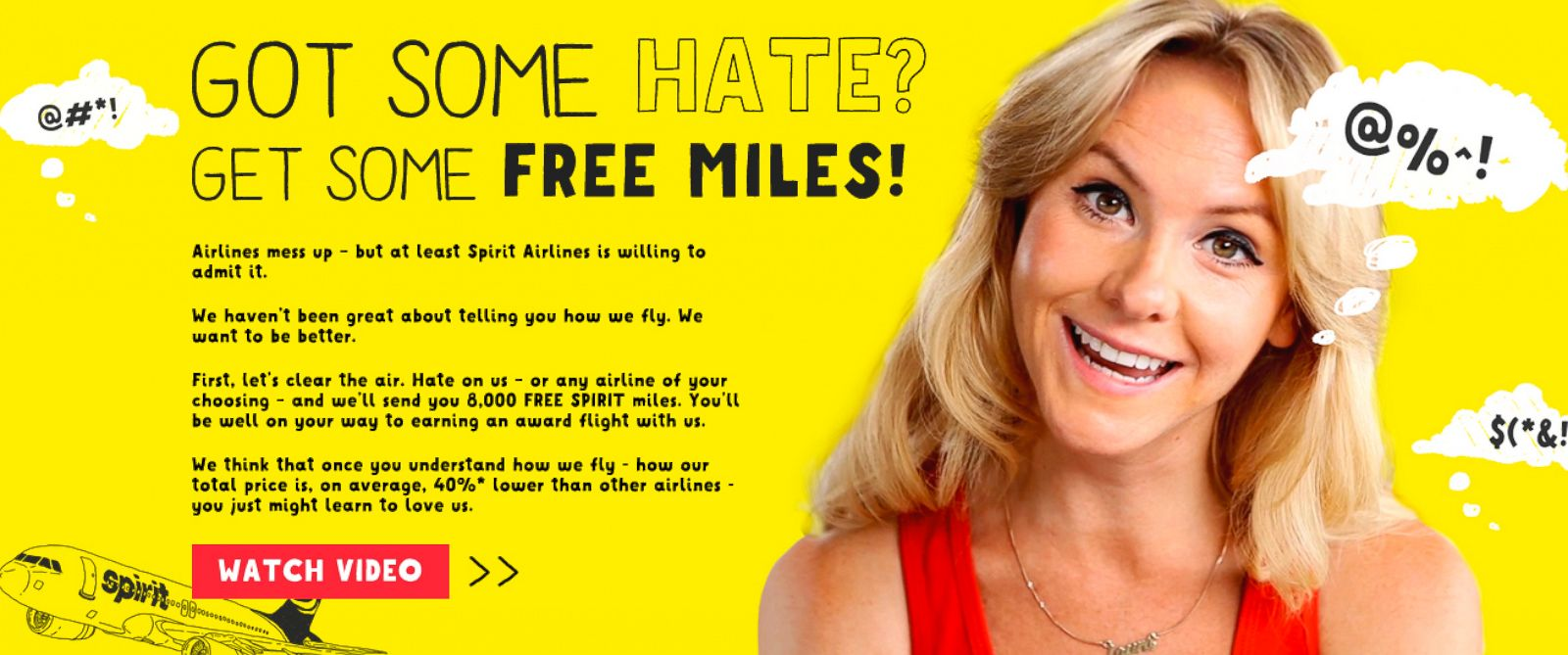 PHOTO: Spirit Airlines will give you free airline miles for angry vents.