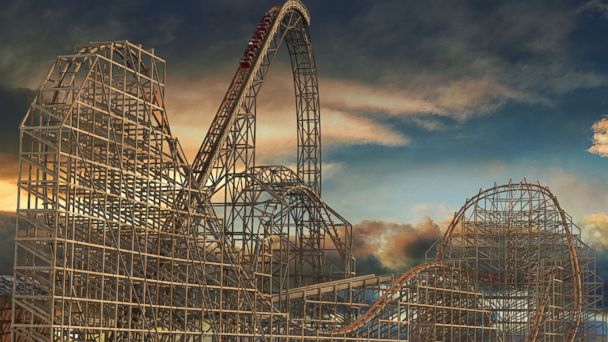 PHOTO: A rendering of Goliath, scheduled to open in 2014 at Six Flags Great America in Gurnee, Ill.
