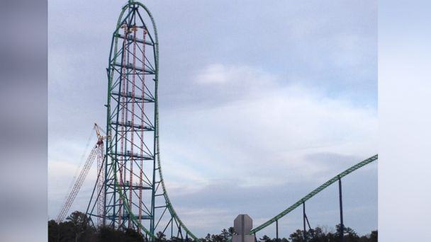 PHOTO: Zumanjaro, opening at Six Flags Great Adventure in Jackson, N.J., under construction