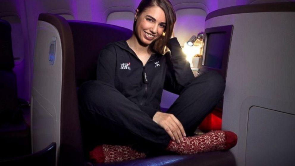 PHOTO: Amber Le Bon is seen in Virgin Atlantics new onesie.
