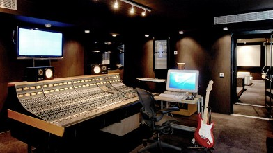 PHOTO: Seen here is the Recording studio at Eden Rock villa, St. Barths.