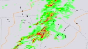 VIDEO: Radar shows planes flying through deadly April storms.