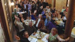 PHOTO: American retirees celebrate