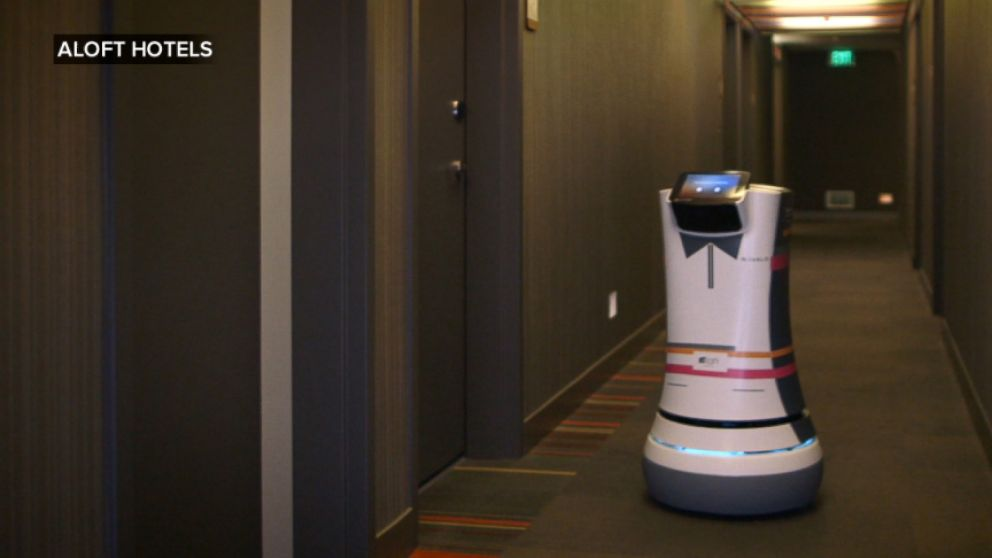 Good Morning America Robot : Now room service is delivered by a robot video abc news