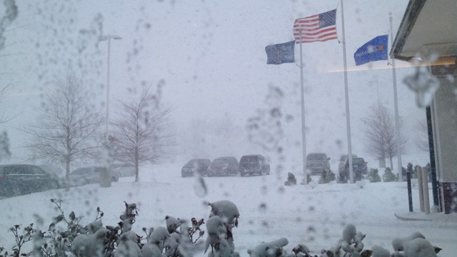 PHOTO: Indianapolis International Airport where more than 130 flights have been cancelled so far on Dec. 26, 2012 due to weather.