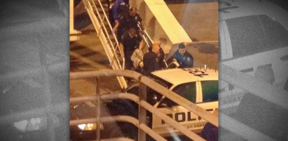 PHOTO: A man was arrested on Nov. 8, 2013 after crashing through the security checkpoint and somehow ending up on an empty plane at Sea-Tac airport in Seatac, Wash.