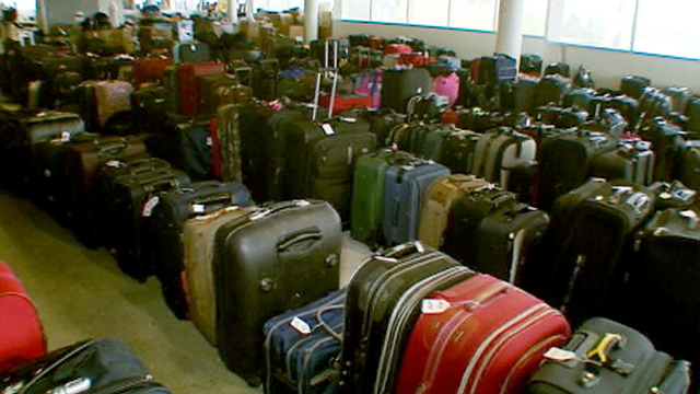PHOTO: Lost luggage at the Miami International Airport.