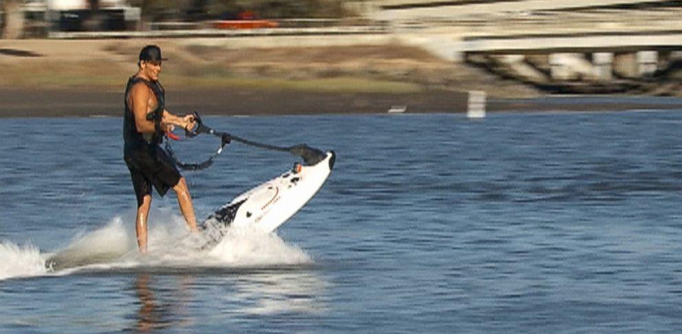"""PHOTO: The PowerSki JetBoard is seen in a segment of """"Nightline""""."""