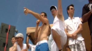 Video: New Kids on the Block set sail with fans.