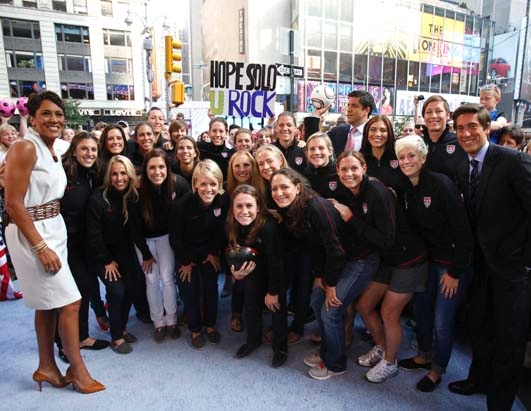 U.S. Women Appear Live on 'GMA'