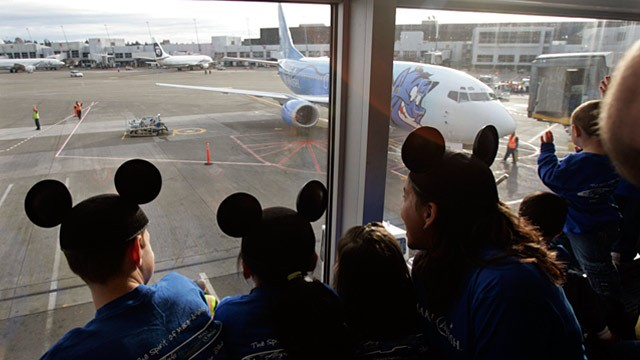 PHOTO: Children wearing Mickey Mouse ears