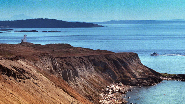PHOTO: This 2000 photo shows the Lighthouse at southern end, Cattle Point, on San Juan Island monument off Washington state's northwest coast. President Barack Obama is designating five new national monuments, including San Juan Island, using executive au