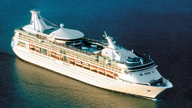 """PHOTO: One hundred and five passengers and three crew members fell ill on the Royal Caribbean cruise ship the """"Vision of the Seas."""""""