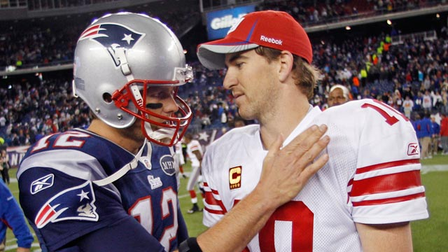 PHOTO: Tom Brady and Eli Manning