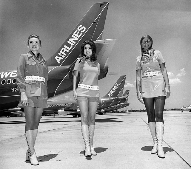 gty 1968 southwest flight attendants lpl 130807 wblog 13 Fantastic Flashback Flight Attendant Fashions