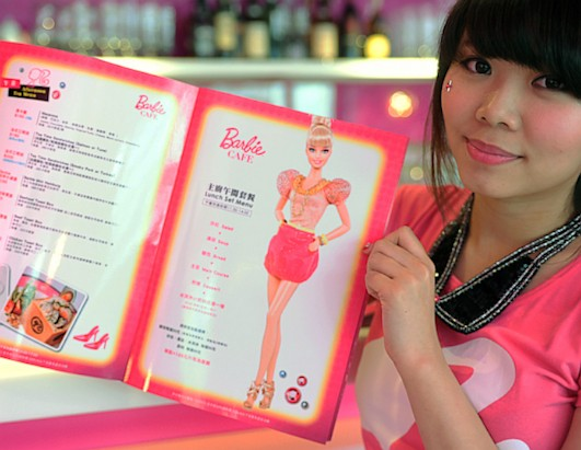 Barbie doll-themed restaurant