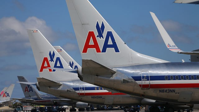 PHOTO: American Airline planes are seen at the Miami International Airport, Feb. 7, 2013 in Miami.