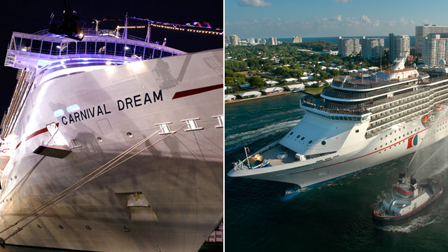 PHOTO: The Carnival Cruise Lines ship Dream and Legend both have had experienced technical problems,