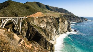 PHOTO: The coastline along Highway One in Big Sur, California.