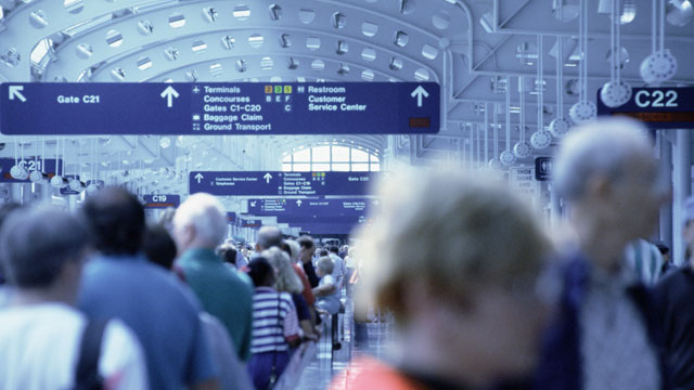 PHOTO: According to some projections, airports will be busier, and flights fuller, around this Thanksgiving, 2012.
