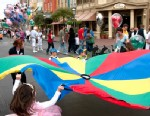 PHOTO: Children play on Main Street in the Magic Kingdom at Disney World.