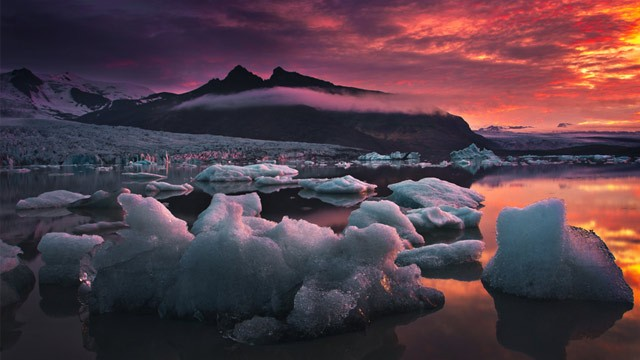 PHOTO: The Fjallsárlón glacial lagoon.