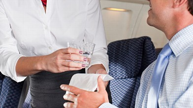 PHOTO: Flight attendants have sly ways of reducing your alcohol intake.