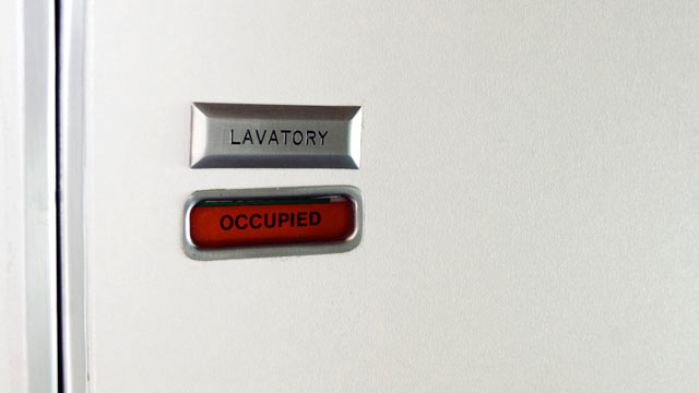 PHOTO: Flight attendants know when passengers are trying to join the mile-high club in the bathroom.