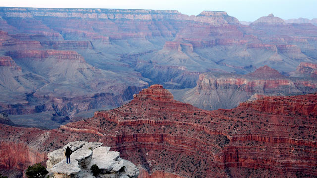 PHOTO: A view of the Grand Canyon, Arizona, 05 April 2007.