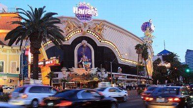 PHOTO: A general view of Harrah's Las Vegas Hotel and Casino in Las Vegas, Nevada.