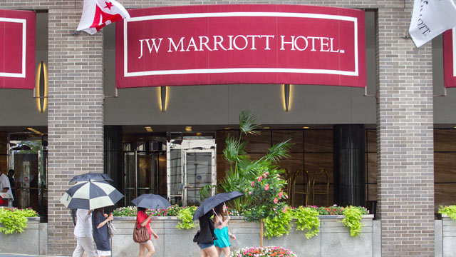 PHOTO: The JW Marriott Hotel had a buyout offer for $2.7 million for the Presidential Inauguration, although no one took them up on the offer.