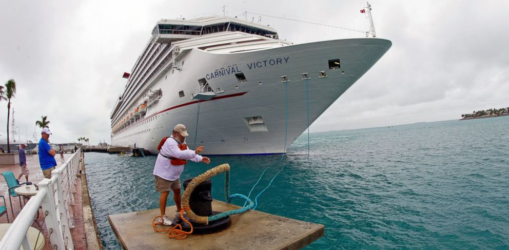 PHOTO: The Carnival cruise ship Victory prepares to leave port in Key West, Fla., in this Feb. 15, 2013 photo.