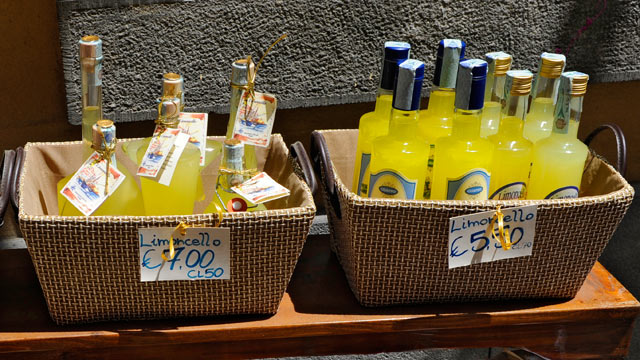 PHOTO: Limoncello is popular on the Amalfi Coast.