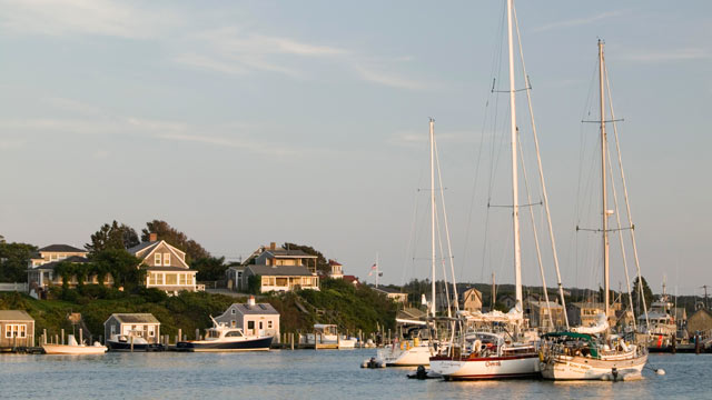 PHOTO: Menemsha Harbor, Vineyard's Fishing Town, in Menemsha, Martha's Vineyard, Mass., is shown in this file photo.