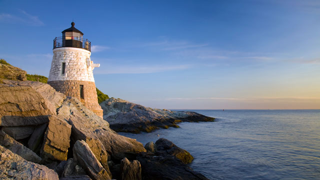 PHOTO: Castle Hill Light is seen on Newport Rhode Island's coast.