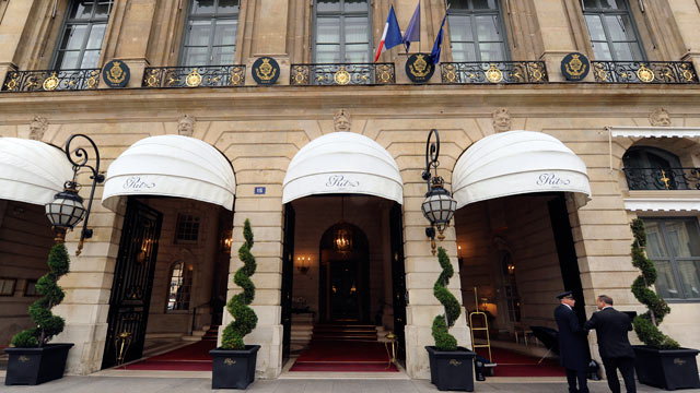 PHOTO: The entrance of the Ritz hotel in Paris is seen in this Oct. 18, 2011 file photo.