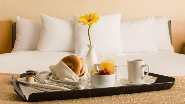 PHOTO: Room service can come in many different ways and at many different prices.