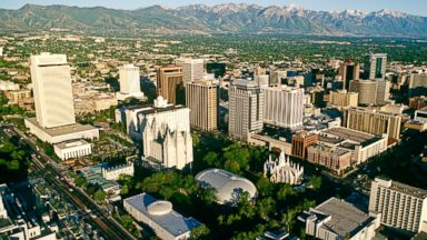 PHOTO: Salt Lake City is pictured from above Temple Square in Feb. 2010.