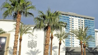 PHOTO: A general view of the exterior as SLS Las Vegas prepares to open after $415M renovation of the legendary Sahara Hotel & Casino on August 21, 2014 in Las Vegas, Nevada.