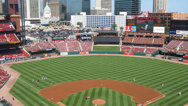 PHOTO: Busch Stadium, St. Louis. Often referred to as New Busch Stadium, this gorgeous park opened in 2006 and allows baseball fans to enjoy the game against the backdrop of the Gateway Arch and St. Louis skyline.