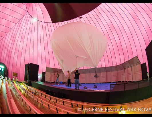 Lucerne festival ark nova photos abc news for Inflatable concert hall