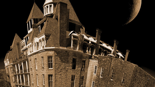 "PHOTO: 1886 Crescent Hotel, Eureka Springs, Arkansas. A hotel so proud of its paranormal activity that there's an entire photo gallery of ghost sightings on website-- is going for full contact with ""the Other Side"" on Halloween, holding a midnight seance"