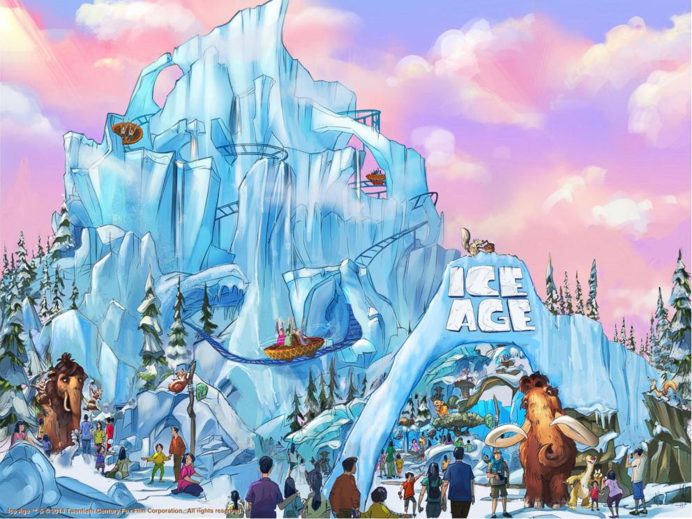 Photo: This artists rendering shows the Ice Age attraction at Twentieth Century Fox World.