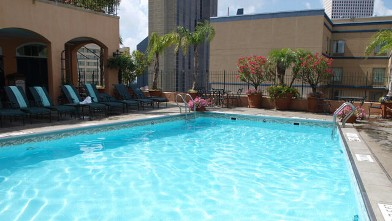 PHOTO: The rooftop pool at Hotel Monteleone.