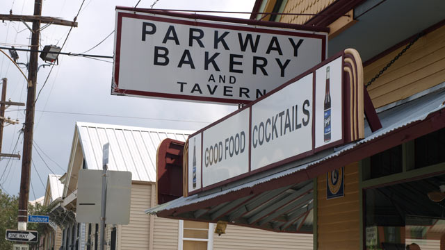 PHOTO: It's a bit of a hike from the French Quarter, but the po' boys at Parkway bakery are worth the trip.