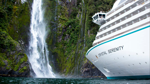 PHOTO: Crystal Cruises Full World Cruise circumnavigates the globe. Caribbean and French Polynesian shores, the wilds of Madagascar, exotic Cape Town, picturesque New Zealand and the vibrant energy of Rio de Janeiro's Carnival are some itinerary highlight