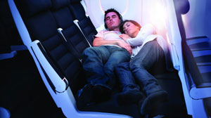 Finally catch some zzz?s in Economy Class: Air New Zealand?s new Economy Skycouch folds out to become a bed